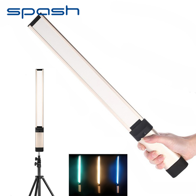 spash LA-L2 Handheld LED Video Light Photography Lighting Portable Studio Light Dimmable 5500K 98 LED Rechargeable 18650 Battery