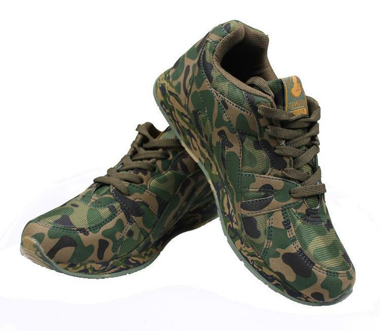 Student military training camouflage shoes men outdoor digital woodland mountaineering travel desert sports