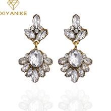 XIYANIKE 2017 New Arrival Big Brand Hot Sale Retro Fashion Zircon Crystal Earrings For Women G