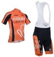 3D silicona! Euskaltel Euskadi 2013 babero manga corta del desgaste ropa de la bicicleta/LA BICI/El montar jersey + Pantalones cortos babero