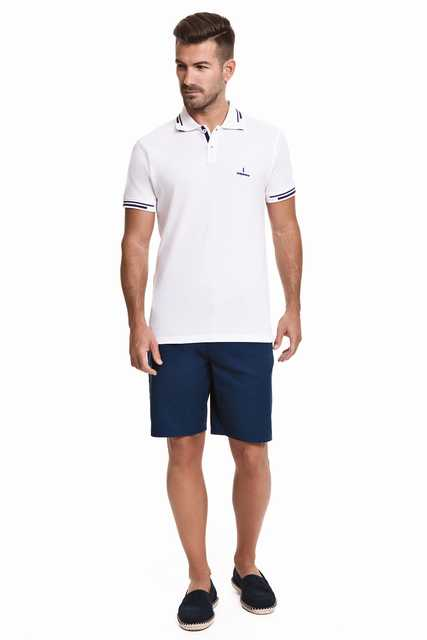 Javier Larrainzar Bermuda Men Casual JL0000306 Cotton Navy Blue