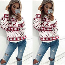 Women Lady Jumper Sweater Pullover Tops Coat Christmas Winter Womens Ladies Warm Brief Sweaters Clothing