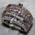 Anillos de Moda de circón AAA ALOOWAY, Este producto tiene 81 ALW1356 forever love anillo de piedra de color joyas de piedra