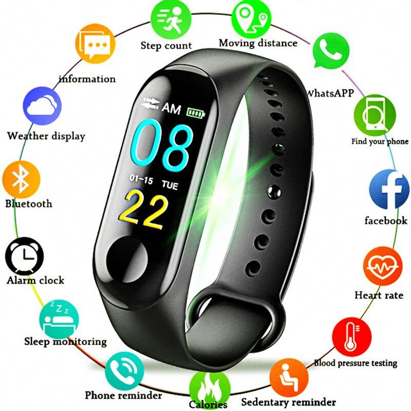 BINSSAW Color-screen IP67 WaterproofFitness Bracelet blood pressure Oxygen Monitor sports Heart Rate Sport Watches pk mi band