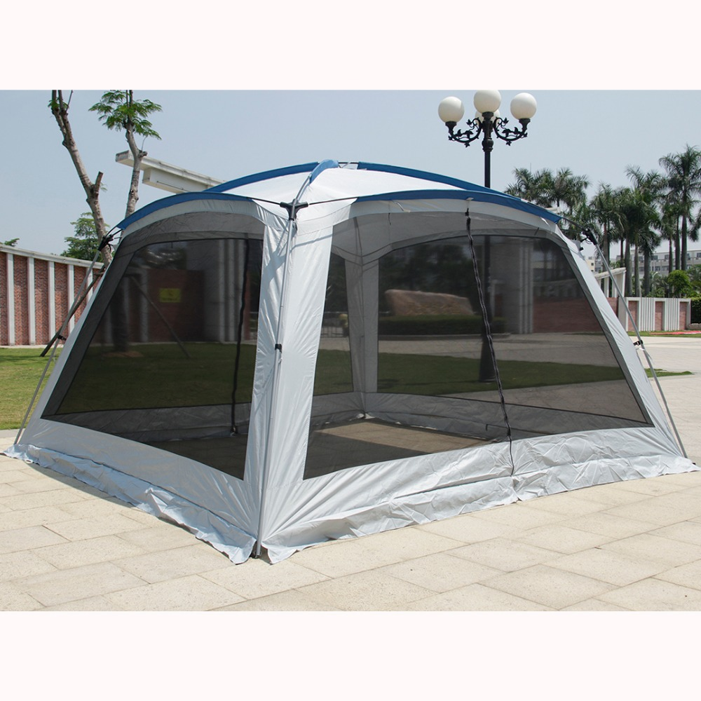 Alltel 5-8 Person Ulterlarge 365*365*210CM Single Layer Large Gazebo Sun Shelter Large Awning Party Tent Camping Family TentAlltel 5-8 Person Ulterlarge 365*365*210CM Single Layer Large Gazebo Sun Shelter Large Awning Party Tent Camping Family Tent