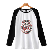 LUCKYFRIDAYF Kpop Hip Hop Mongrel Mob Idol Raglan T-Shirts Long Sleeve T-shirt For Women/Men Women Size Plus 4XL