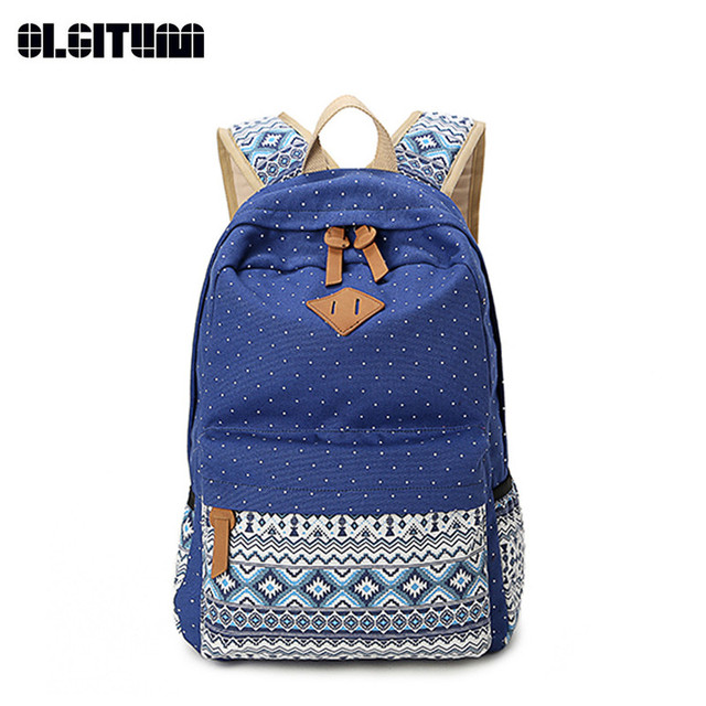 8e1069f0e1 Cute School Bags 2018 Fashion Style Women Book Bags Canvas Printing  Backpack Backpacks for Teenage Girls BP074