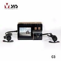 2017 Latest Vsys C3 HD Sports Waterproof Action Helmet Bike Bicycle Motorcycle Dual Lens Mini DVR Camera Video Recorder