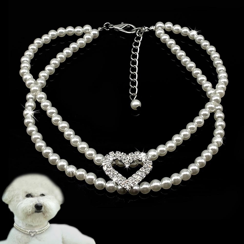 Colliers accessoires pour chiens petits chiens chat   Pour Chihuahua Yorkshire, strass perles, collier collier pendentif, fournitures pour animaux de compagnie