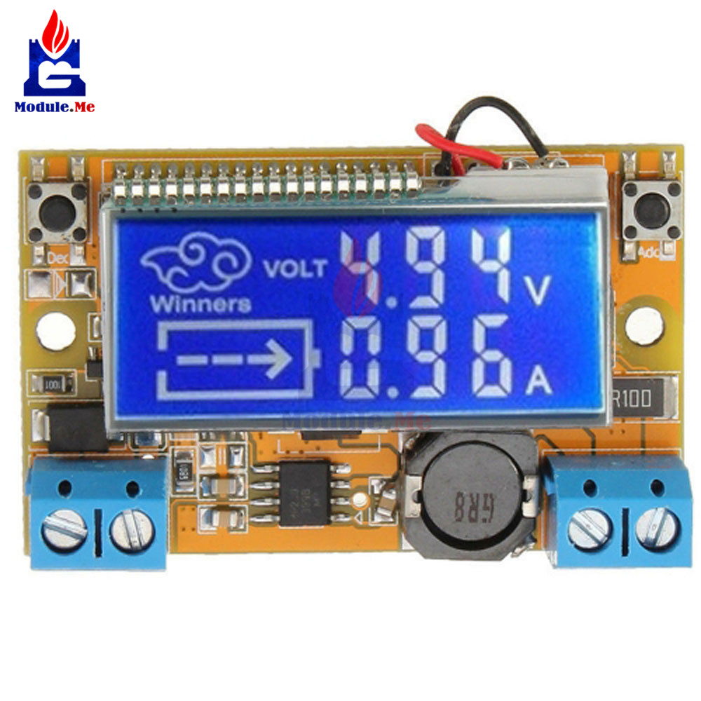 DC-DC 3A STN Digital DisPlay LCD Step Down Power Supply Module Adjustable 5-23V To 0-16.5V Current Voltage Step Down Buck Board