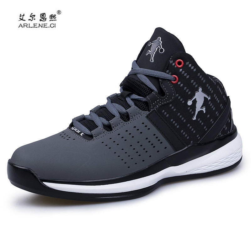 2018 New Arrival Air Damping Men Basketball Shoes High Top Athletic