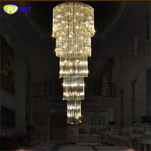 FUMAT Modern K9 LED Living Room Crystal Chandeliers Crystal lustre Luxury led chandelier light for Staircase Stair Bedroom Hotel