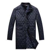 Chaqueta de los hombres 2016 nuevo estilo de algodón acolchado largo modelo fashion comfort cruz criss diseñada mantener calentamiento prendas de abrigo libre gratis