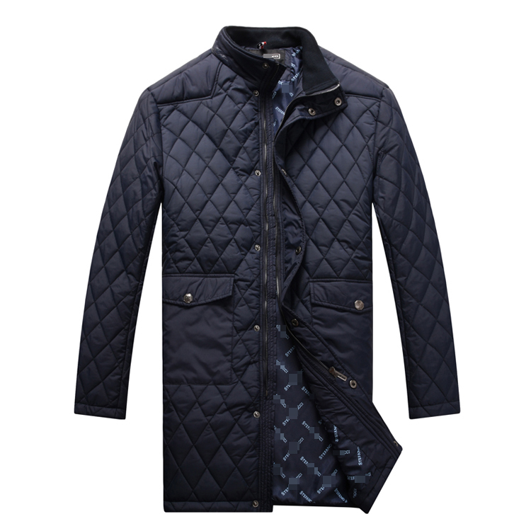 Jacket men s 2016 new style cotton padded long model fashion comfort cross criss designed keep
