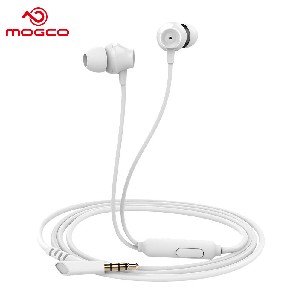 MOGCO Wired In-ear Earphone Heavy Bass Sound Stereo Earbuds Music Hifi Stereo Sound With Microphone Control Headset For Phone PC new guitar shape r9030 bluetooth stereo earphone in ear long standby headset headphone with microphone earbuds for smartphones
