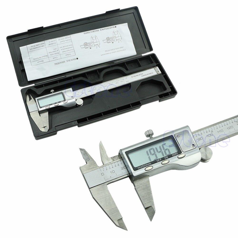Stainless Steel Electronic Digital Vernier font b Caliper b font Micrometer Guage LCD 6 150mm