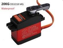 1pcs 방수 서보 DS3218 업데이트 고속 메탈 기어 디지털 서보 바하 서보 20KG/.09S 1/8 1/10 스케일 RC 자동차 부품