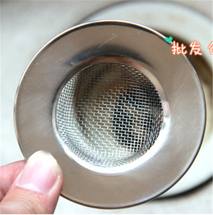 stainless steel sink filter garbage collection net kitchen sewage filter waste filter net prevent sewer blocked - Kitchen Sink Blocked