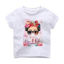 2187357c6177 Camiseta Modal impresión niños ropa manga corta Camiseta México artista ...