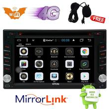 Double 2Din Android 6.0 GPS WIFI Car Stereo DVD Player Radio OBD2 Mirror 4 CORE