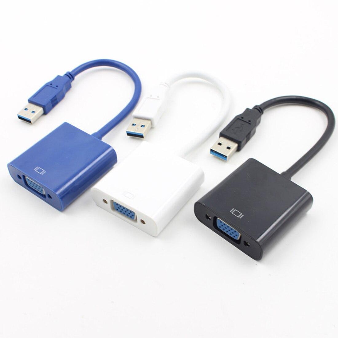 Centechia USB3.0 Vídeo Placa Gráfica Cabo Adaptador Externo para WIN7 WIN8 Vista 1080 p/USB 3.0 para VGA conector do adaptador