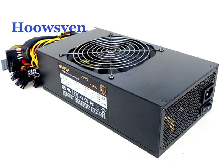 Mining case eth DASH miners power supply 1200W ATX server power 4P ...