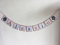 Superman Birthday Banner Superhero Party Banner Birthday Bunting Decoration Baby Shower Favors Customized Name Pattern Color