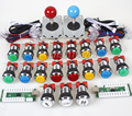 Classic Arcade DIY Kit Part USB Encoder to PC Games 5 Pin 8 Way Joystick + 16 Chrome LED Push Button + 1 - 2 Player Coin Buttons