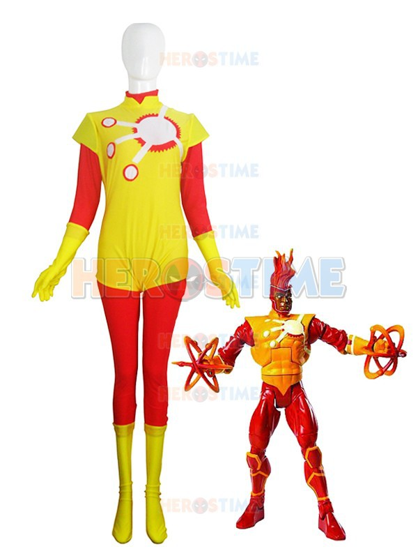 Firestorm Costume Red & Yellow Spandex Firestorm Superhero Costume - Disfraces