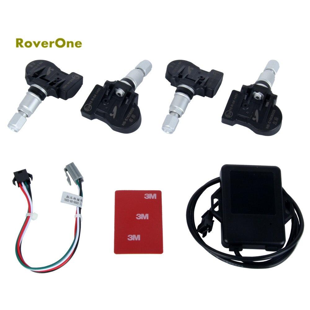RoverOne TPMS barre de support d'outil de Diagnostic de pneu de voiture et PSI avec Mini capteur intérieur Auto et exclusif pour nos autoradios