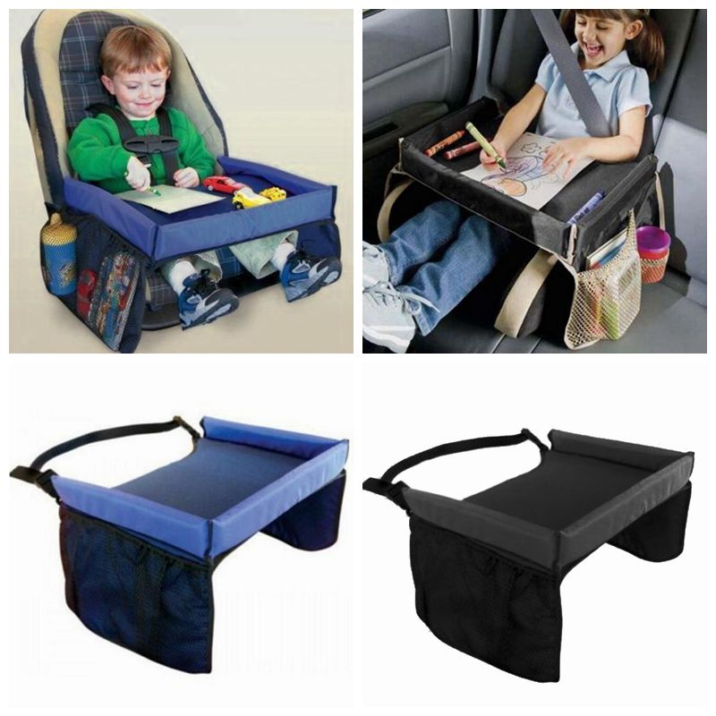 waterproof desk table car seat tray storage kids toys tray baby stroller holder for children