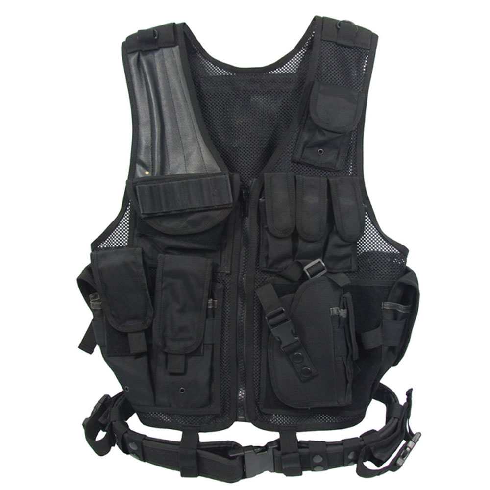 ROCOTACTICAL USMC Military Vest Heavy Duty Combat Vest w/Pistol Gun Holster Mag Ammo Pouch Assault Vest for Airsoft Paintball mag 200 в киеве