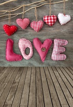 Laeacco Wooden Board Floor Love Heart Pillow Baby Photography Backgrounds Customized Photographic Backdrops For Photo Studio