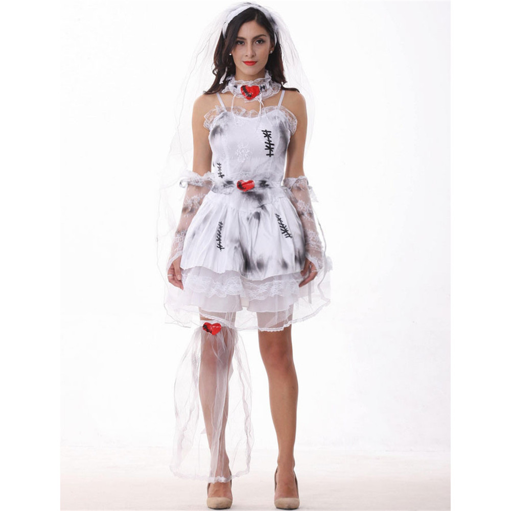 halloween devil Cosplay Party devil Corpse Bride Costume Female Halloween scary Costume Vampire Halloween Christmas Costume