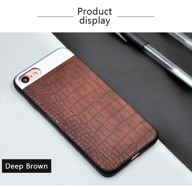 Kasatin Corrodie Pattern Leather Back Cover for iPhone 6 (8)