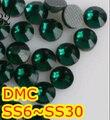 Ss6, Ss10, Ss16, Ss20, Esmeralda ss30 de alta qualidade DMC ferro em vidro pedrinhas / Hot fix cristal pedrinhas