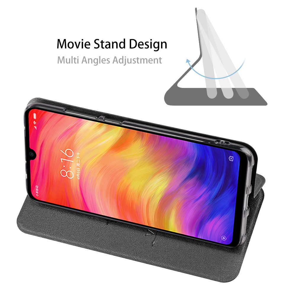 Image 3 - for Redmi 7A Case MOFi Xiaomi Redmi 7A Cover for Mi 7A Flip Xiomi Housing TPU PU Leather Soft Silicone Stand-in Flip Cases from Cellphones & Telecommunications