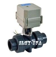 DN15,20,25,32,40,50 PVC Motorized Ball Valve ,DC12V/DC24V 2 way Plasticelectric ball valve
