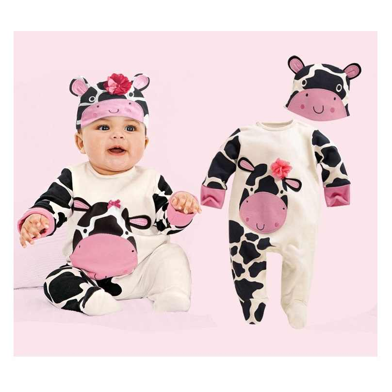 a218ad5bb305 ... Panda Baby Rompers Caps Boys Clothing Set Toddler Hat One-Pieces Suits  Overall Grey baby ...