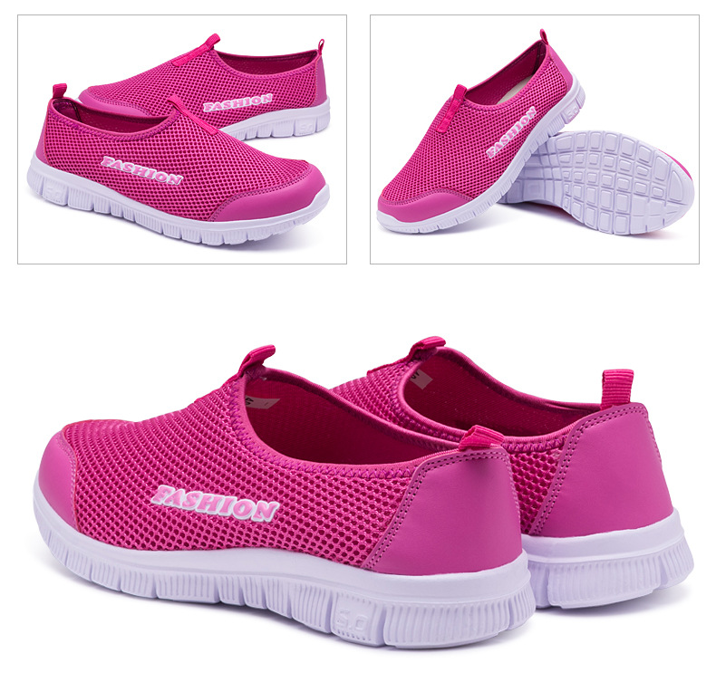 Breathable Mesh Light Flat Loafers Casual Shoes for Women