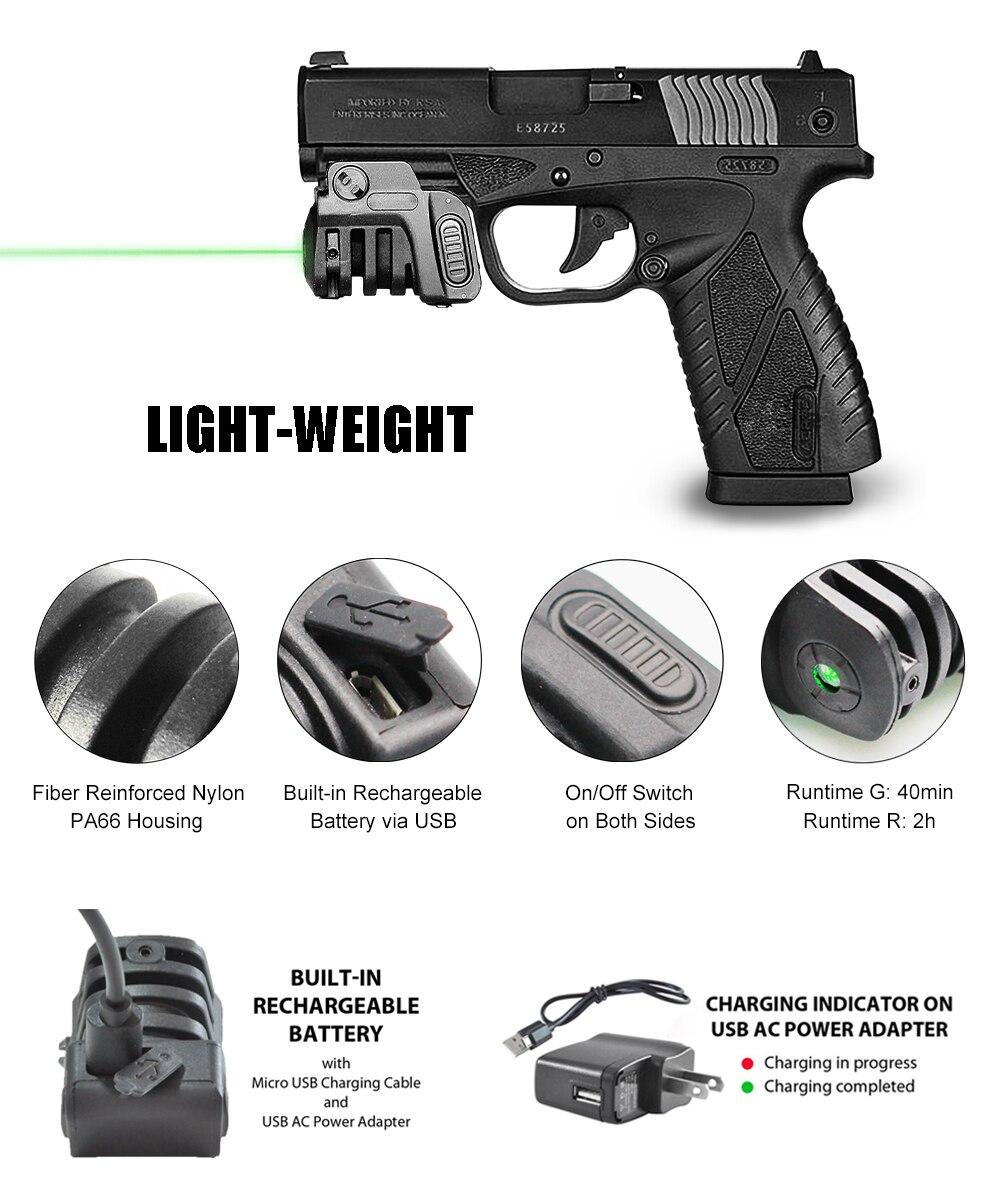 railed pistola beretta px4 glock usb carregamento compacto tiro laser