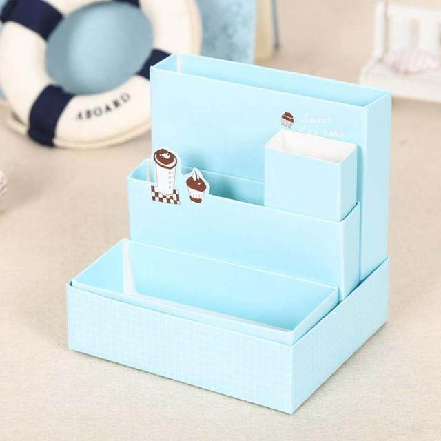 diy decorated storage boxes. DIY Paper Board Storage Box Desk Decor Stationery Makeup Cosmetic Table Decorative Boxes Cardboard Home Diy Decorated