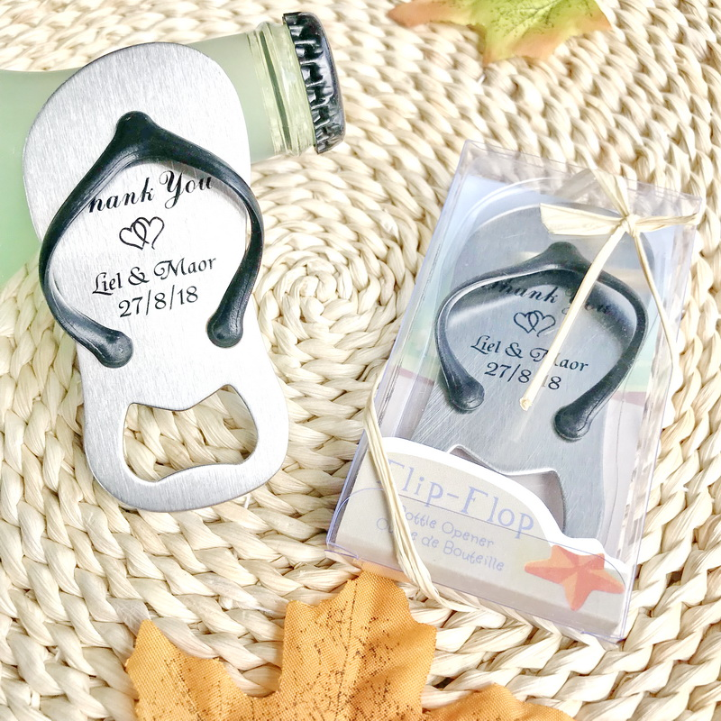 0d8aa0957c762 FREE SHIPPING(100pcs Lot)+Black Flip Flop Beer Opener Printing Logo Beach