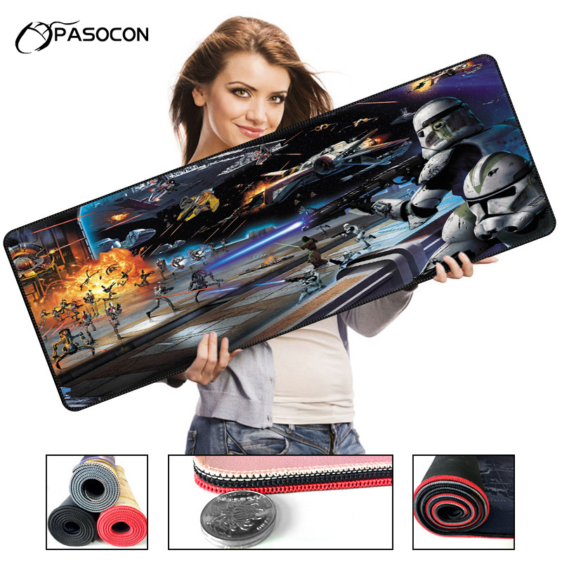 Gamer mousepad large Gaming Mouse Pad <font><b>900X400</b></font> mm Office Laptop Mousepad Locking Edge Anti-Slip Desk Mat Keyboard Pad image