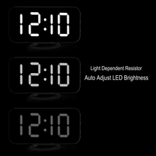 Alarm Clock Digital Clock with Large Easy Read LED Display Mirror Surface Dual USB Charger Port Hot Sale