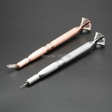 Профессиональные Кристалл Tebori брови ручку татуировки Перманентный Макияж Ручка Машина Microblade ручка для губ и Бровей татуировки оборудования