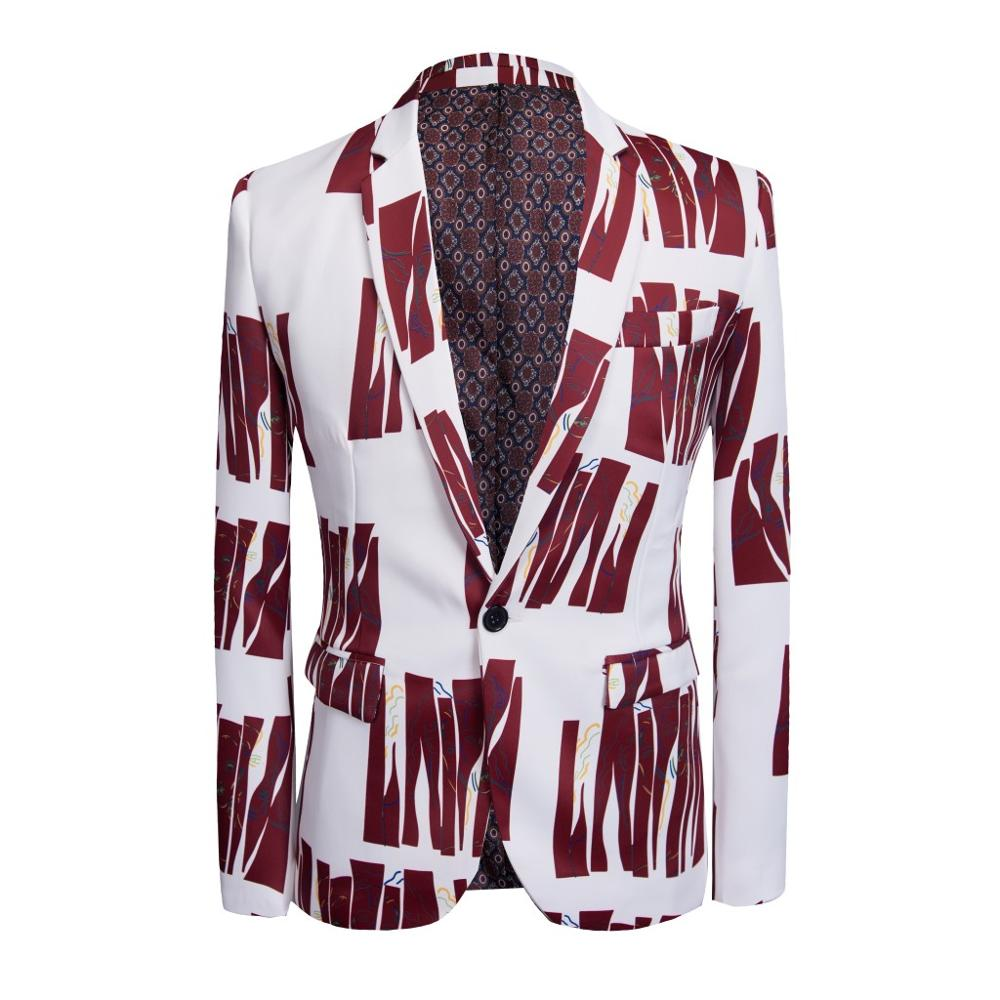 GL&DR casual men suit youth printed jacket design four seasons slimming British style slim blazers fashion wedding suit