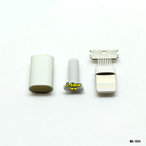 Image 2 - Cltgxdd溶接タイプ8ピンオスプラグusbコネクタアダプタコンバータ用iphone 5 5 s 6 6 s 7 8プラス