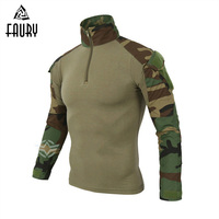 High Quality Tactical Military Uniform US Army Airsoft Camouflage Combat Proven Shirts Rapid Assault Long Sleeve T Shirt Battle