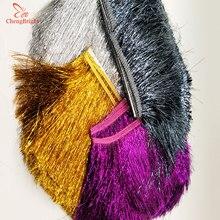 CHENGBRIGHT 1 ярд 20 см длинная кружевная бахрома отделка кисточка бахрома отделка для Diy латинское платье сценическая одежда аксессуары кружевная лента